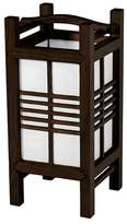 "Oriental Furniture Akida Lamp - Brown (14"")"