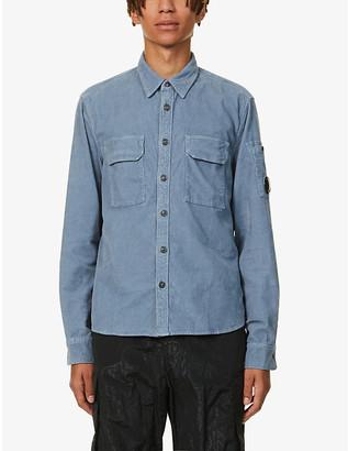 C.P. Company Brand-badge corduroy shirt