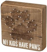 """My Kids Have Paws"" String Box Sign Art"