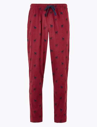Marks and Spencer Supersoft Stag Print Pyjama Bottoms