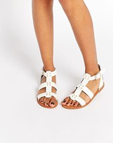 London Rebel Stud Gladiator Flat Sandals