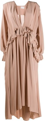 Victoria Beckham Ruffled Long Day Dress