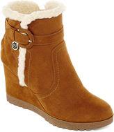 Liz Claiborne Reston Faux-Fur Wedge Ankle Booties