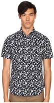 Jack Spade Clift Short Sleeve Splatter Print Shirt Men's Short Sleeve Button Up