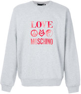 Love Moschino logo print sweatshirt - men - Cotton - M