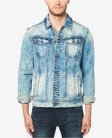 Buffalo David Bitton Men's Joe Bleached Faded Denim Jacket