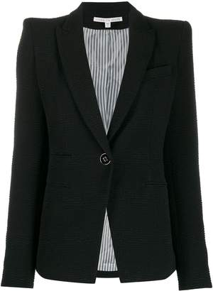 Veronica Beard single-breasted structured-shoulders blazer