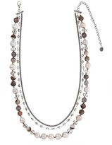 Chan Luu Women's 925 Sterling Silver Round Pink Mixed Multi Strand Necklace of Length 41.91cm