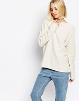 Selected Crystal Top in Textured Sweat