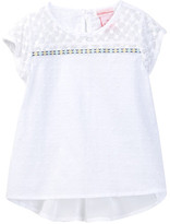 Design History Short Sleeve Hi-Lo Top (Toddler & Little Girls)