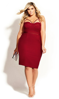 City Chic Undress Me Dress - red