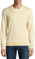 Neiman Marcus Cashmere-Silk V-Neck Sweater