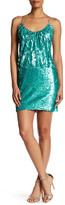 Dress the Population Jocelyn Crisscross Sequined Minidress