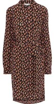 Diane von Furstenberg Prita Belted Printed Silk Crepe De Chine Shirt Dress