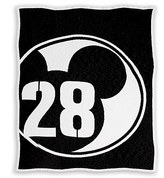 Disney Mickey Mouse 28 Varsity Knit Throw by Ethan Allen