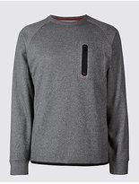M&S Collection Slim Fit Textured Sweatshirt