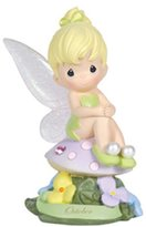 Precious Moments Precious Moments, Disney Showcase Collection, October Fairy As Tinker Bell, Pink Tourmaline, Resin Figurine, 113217