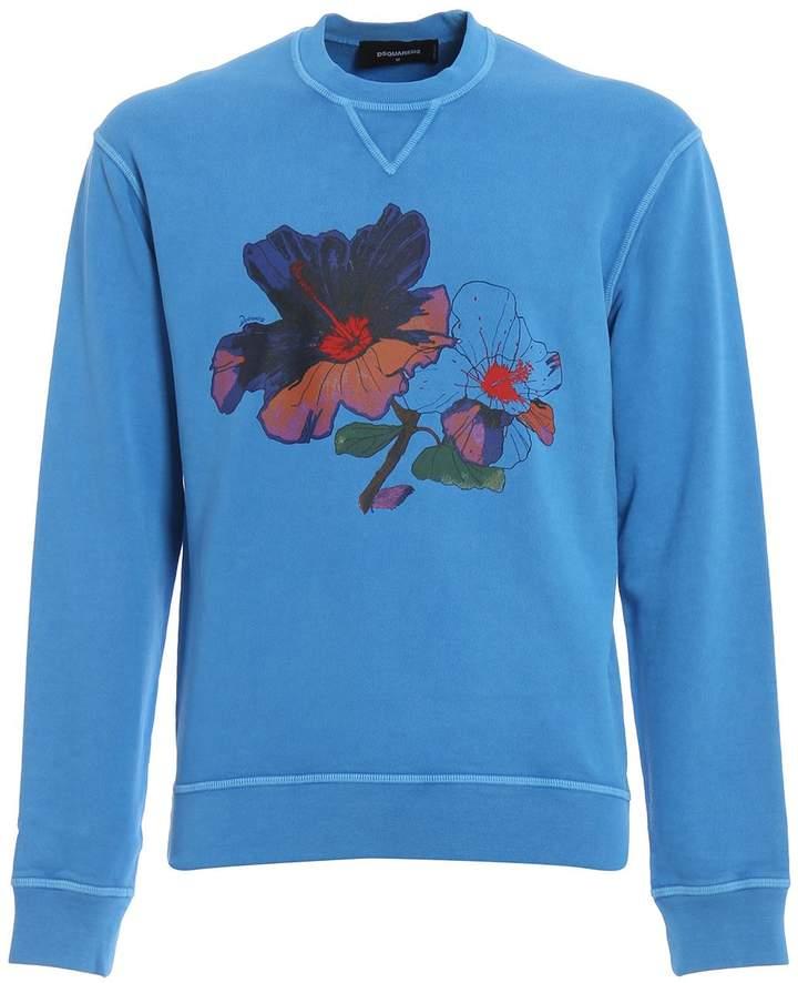 DSQUARED2 Flower Print Sweatshirt