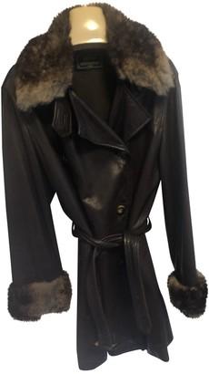 Sylvie Schimmel Brown Leather Coat for Women