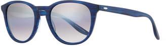 Barton Perreira Men's Plimsoul Round Sunglasses, Cobalt/Silver