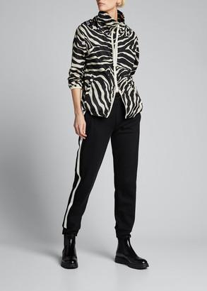 Moncler Pomme Zebra-Print Rain Jacket