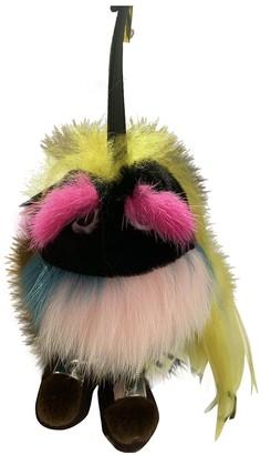 Fendi Multicolour Raccoon Bag charms