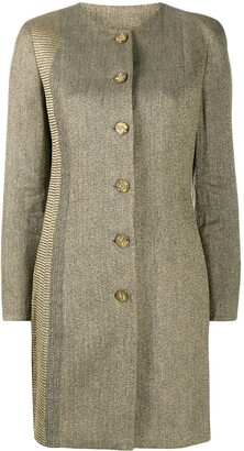 Gianfranco Ferré Pre-Owned 1990s Collarless Thigh-Length Coat
