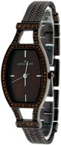 AK Anne Klein 8811BNBN Women's Black IP Color Crystal Accented Bracelet Watch