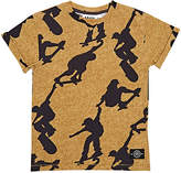 Molo Kids Ragno Skateboarder-Print Cotton T-Shirt