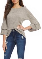Moa Moa Cozy Tiered Ruffle Sleeve Top