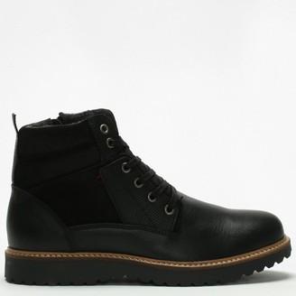 Daniel Reid Black Leather Lace Up Ankle Boots