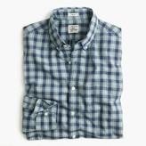 J.Crew Slim Secret Wash shirt in plaid heather ruby poplin