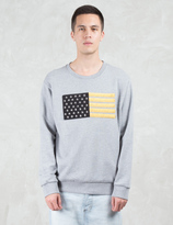 Palm Angels Flag Embroidery Sweatshirt