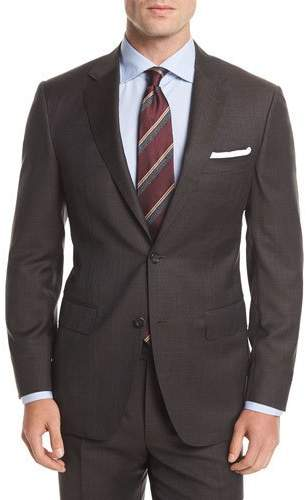 Canali Wool Plaid Two-Button Suit