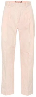 Plan C High-rise cotton pants