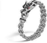 John Hardy Legends Naga 11MM Station Bracelet in Silver with Gemstone