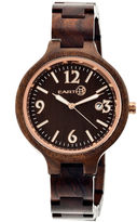 Earth Wood Nodal Dark Brown Bracelet Watch With Date Ethew2002