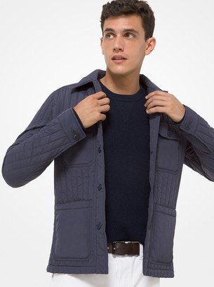 Michael Kors Quilted Nylon Trucker Jacket