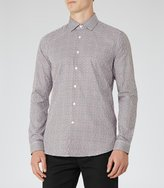 Reiss Monza - Geometric Print Shirt in Red, Mens