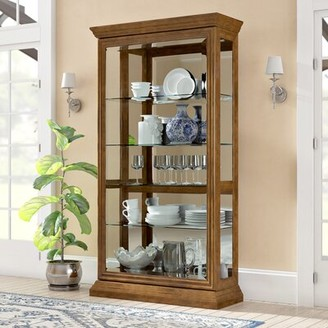 Nancy Lighted Curio Cabinet Darby Home Co