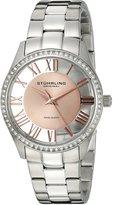Stuhrling Original Women's 750L.05 Classic Ciara Analog Display Swiss Quartz Silver Watch