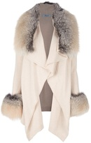 Blumarine fur trim coat