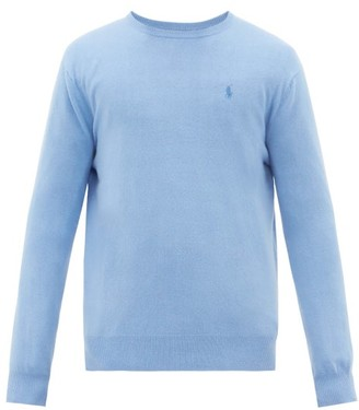 Polo Ralph Lauren Logo-embroidered Cashmere Sweater - Mens - Blue