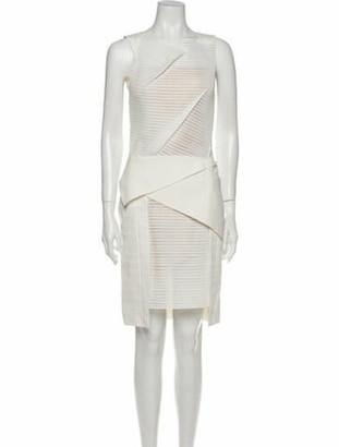 Roland Mouret Asymmetrical Knee-Length Dress White