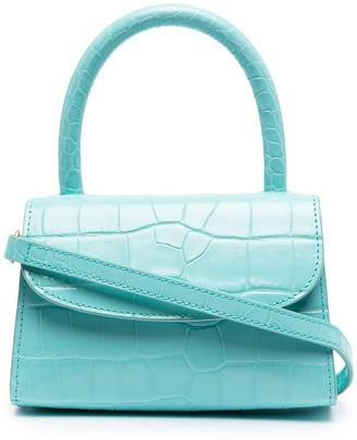 BY FAR Crocodile-Effect Tote Bag