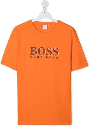 Boss Kidswear TEEN logo print T-shirt