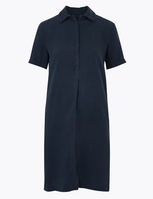 Marks and Spencer Tencel Knee Length Shift Dress