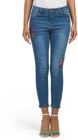 5 Pocket Embroidered Skinny Jeans