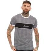 Closure London Mens Check Cut'n'Sew T-Shirt Check