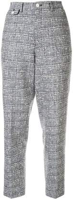 Education From Young Machines bouclé tweed trousers